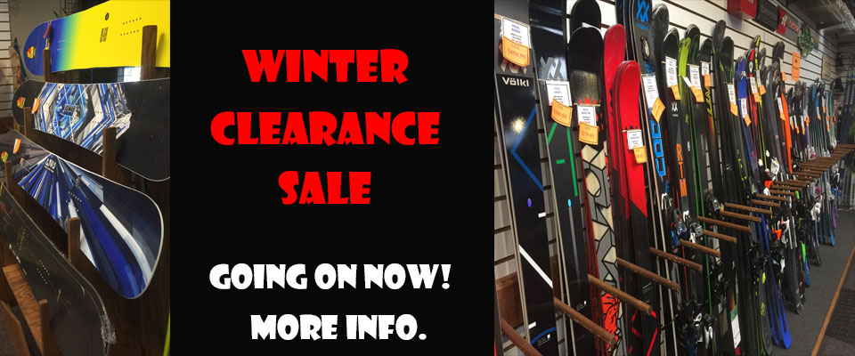 2018 WINTER CLEARANCE SALE SLIDER